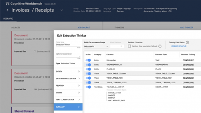 Screenshot Cognitive Workbench