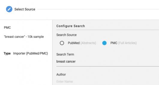 Screenshot PubMed/PMC Import